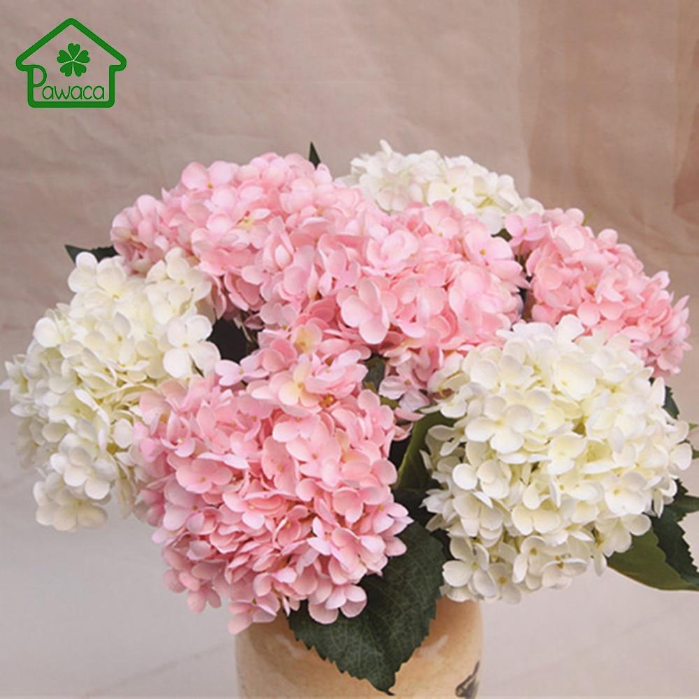 Luksuslik Kunstlik Hortensia Lill Simulatsioon Siidist lilled Pulmad Kimp DIY Kodu Pulmad Dekoratiivsed Lilled 8 Värvid