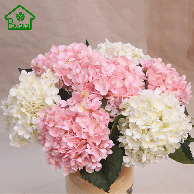 Luxury Artificial Hydrangea Flower Simulation Silk Flowers Wedding ...