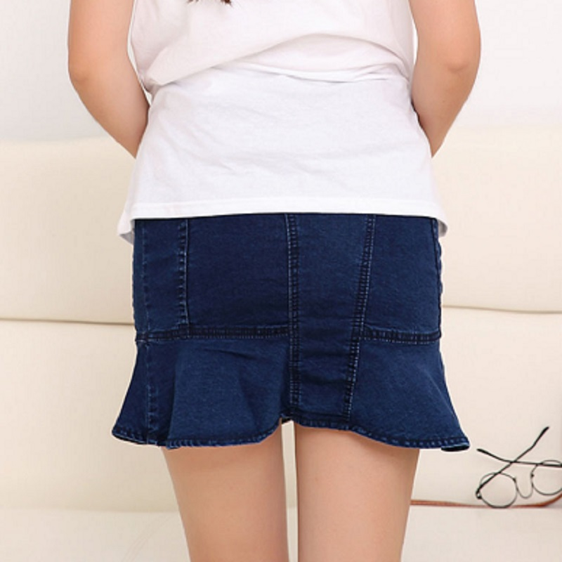Spring Summer Autumn Abnominal Lift Mini Skirt In Trumpet Style For Pregnant Women In 2019