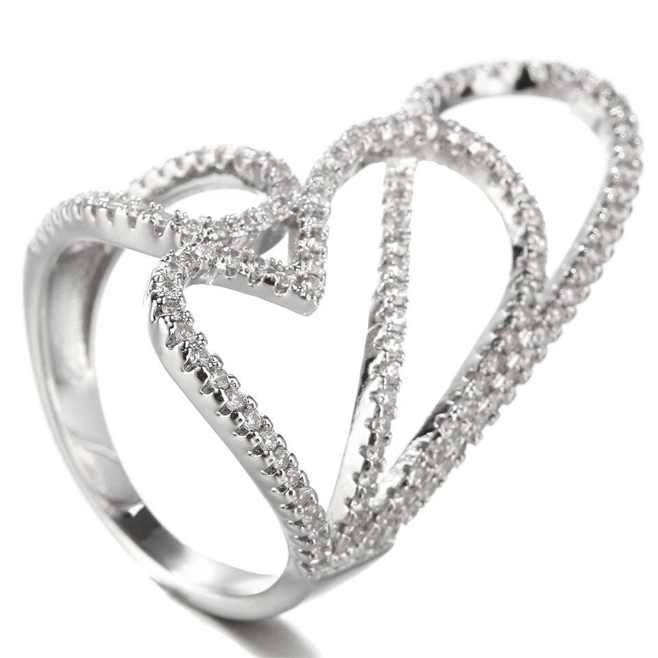 Anel Elegant Ring Women Finger Ring Jewels New Design Ring Jewelry ...
