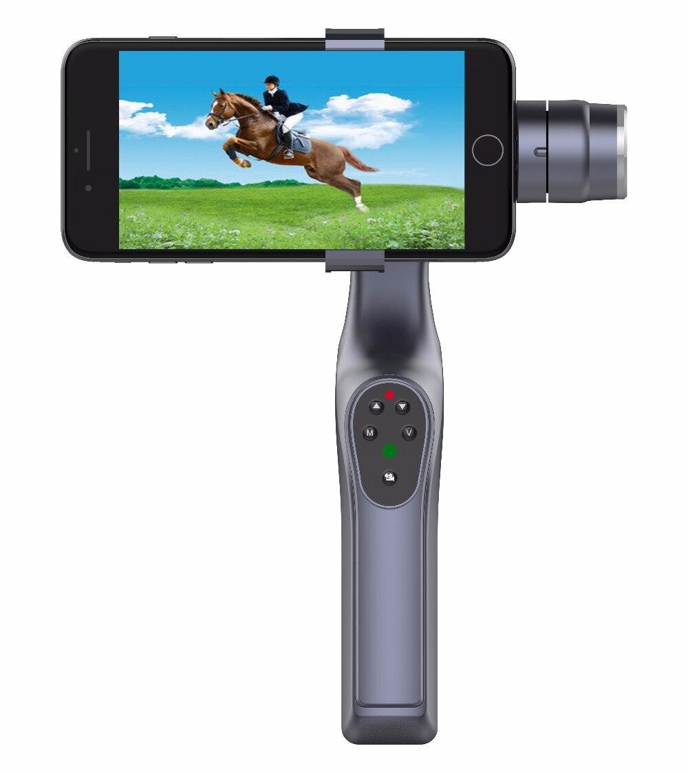 XJJJ JJ-1S 2 axes sans brosse stabilisateur de téléphone portable 330 degrés JJ-1 pour Gopro Smartphone cardan monture pour support intégré Bluetooth