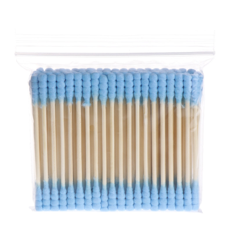 100Pcs Double Head Cosmetic Makeup Cotton Swab Women Stick Ear Cotton Buds For Medical Cleaning Tips Tools Nose Ears Wood Sticks