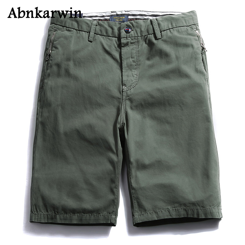 Abnkarwin 100% Cotton Brand Cargo Men Short Pants 2018 Summer Fashion Casual Short Mens Trousers High Quality Males Shorts ...