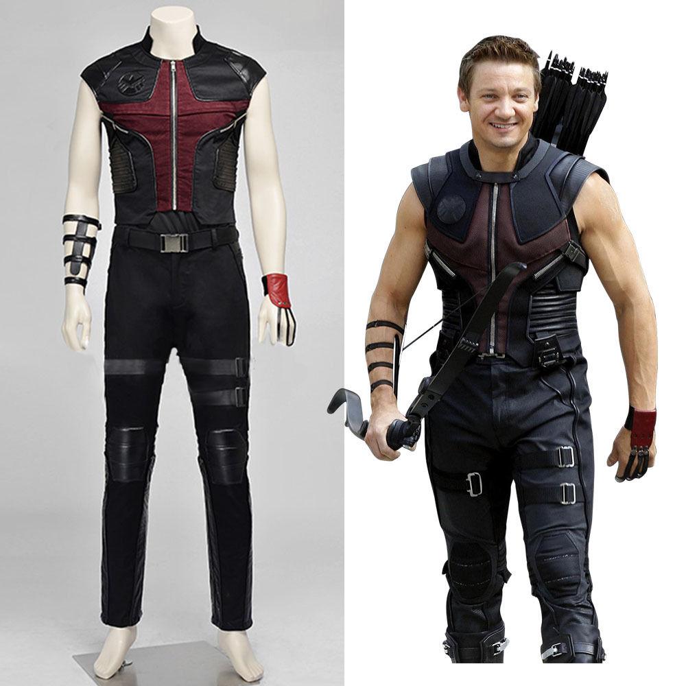 Avengers: Age of Ultron Hawkeye Cosplay Costume Halloween Marvel Superhero Clinton Francis Barton Cosplay Uniform Suit Outfit