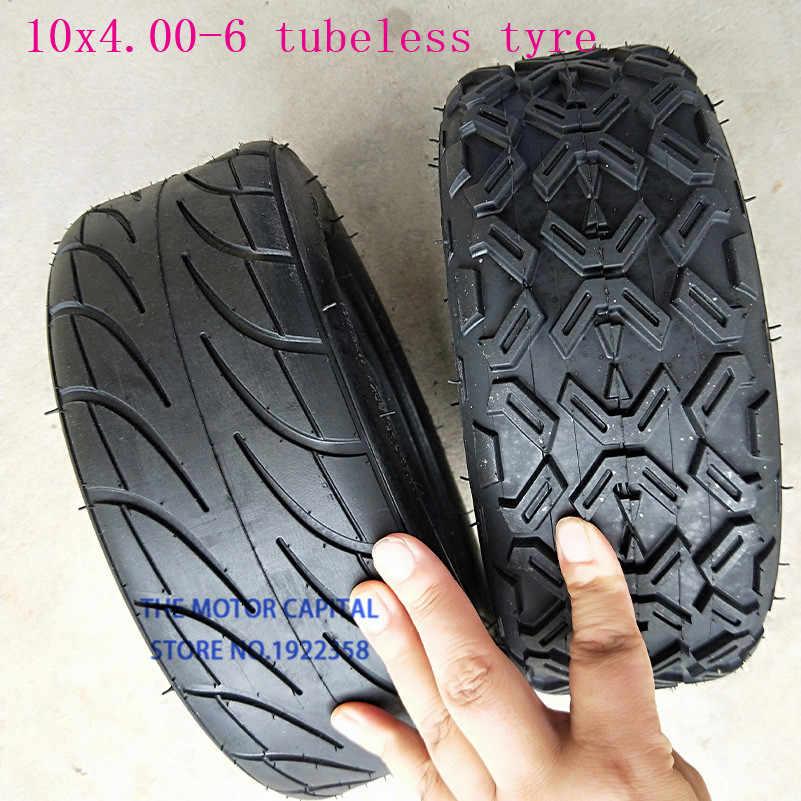 Neumático de vacío sin cámara 10X4.00-6 para Harley Electric Citycoco Scooter Go karts ATV Quad bike todoterreno de buena calidad