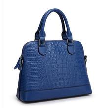 2016 новое поступление женщины сумка из натуральной кожи крокодила мешок известный бренд мода женщин сумка Bolsas Feminina WNB075