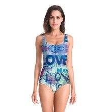 Fashion One Piece Swimsuit Women Swimwear 3D Bird Printed Monokini Maillot De Bain Femme Bodysuit Female Bathing Suit Beachwear