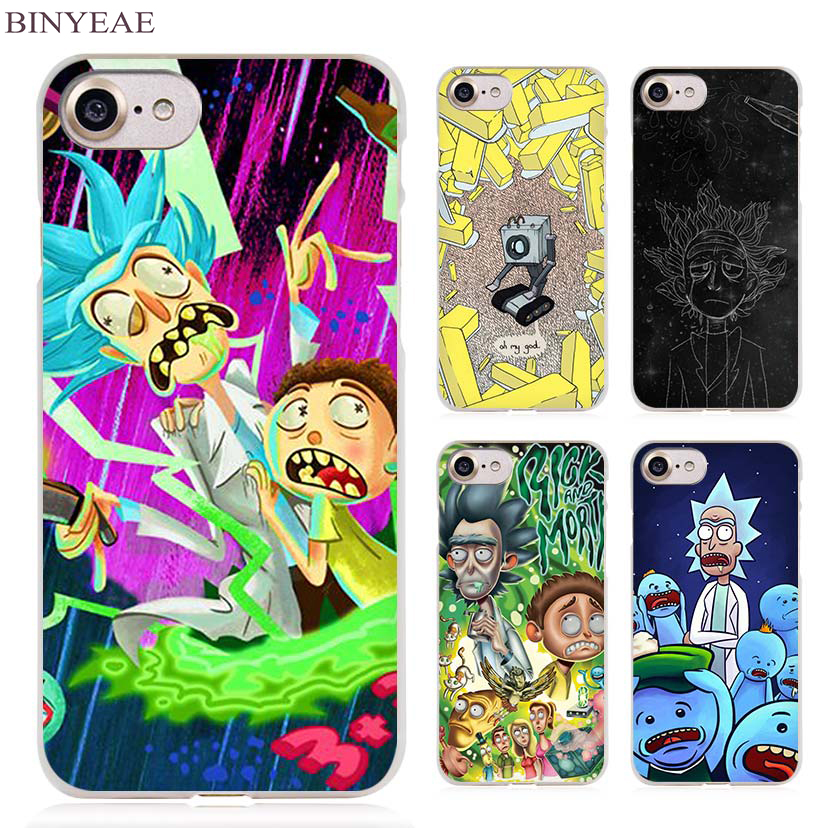 BINYEAE Rick And Morty funny guys Clear Cell Phone Case ...
