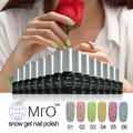 MRO snow gel nail polish set uv gel lucky gel nail lacquers varnish 3 in 1 nail glue professional esmaltes permanentes de uv