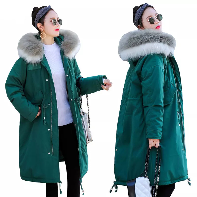 High quality Winter Long Parkas Women   Down   Jackets Duck   down   95% Warm Outwear   Coats   Female Big Fur Collar Hooded   Down   Jacket