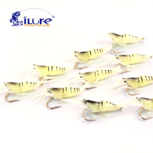 iLure 10 Pcs/bag 4.5cm 2g Lifesaving Fishing Lures Soft Lures Lures Soft Lures Hooks Shrimps Soft Lures Locks Souple Crankbait