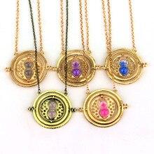 100 Uds Temps turner collier sablier vintage pendentif Hermione Granger pour femmes señora fille es gros 0131