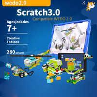 2019 NEW Technic WeDo 3.0 Robotics Construction Set Building Blocks Compatible with legoes Wedo 2.0 Educational DIY toys