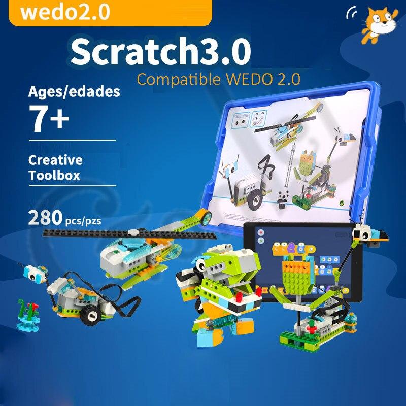 2019 nova tecnica wedo 3 0 robotica construcao conjunto blocos de construcao compativel com logoes wedo