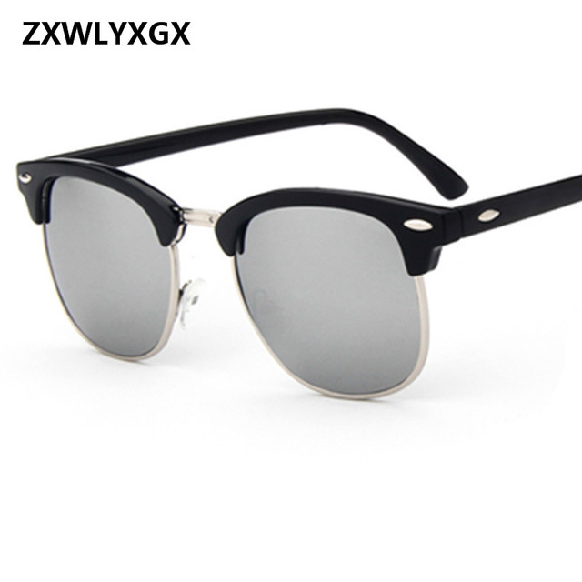 Gafas de sol polarizadas nuevas de moda 2018 para hombre mujer remaches  Retro lentes Polaroid 6da857e36c67