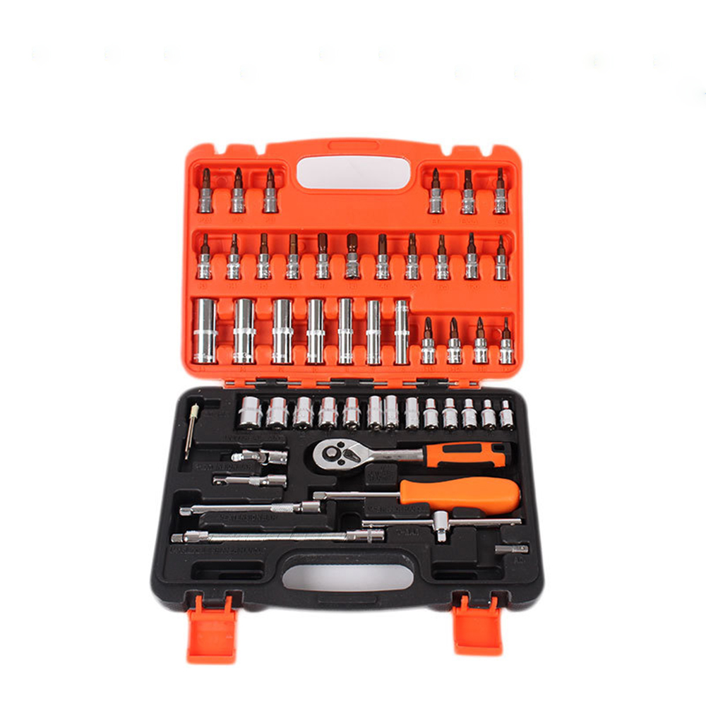 56 Pcs Multitool Ratchet Set of Tools Spanners Socket Set Wrench Tool Set Wrench Set Ratchets Car Repair Hardware Kit 150 pcs ratchet wrench set tool household socket wrench sleeve set tools for car repair