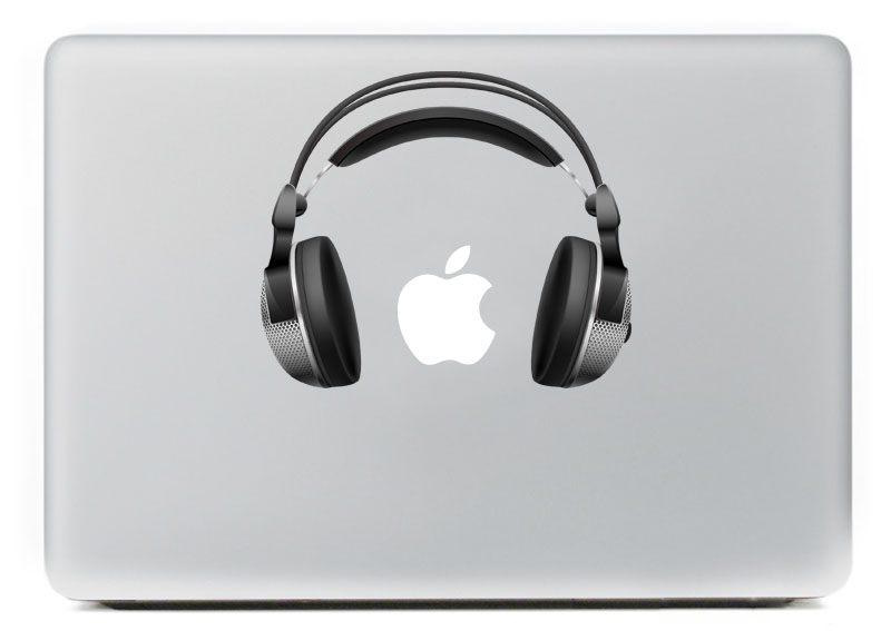 I love music, headphones Vinyl Decal Sticker for Apple Macbook Pro / Air 11 13 15 Inch Laptop Case Cover Sticker
