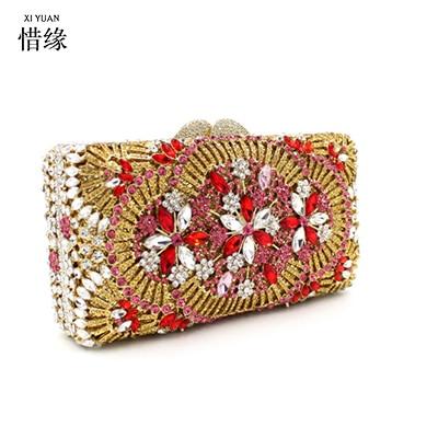 Xiyuan De À Mujer Femme Bolsas Qualité Main Bolsos Femininas Diamants Femmes Or Sacs Marque Mode Haute Messenger Sac r85qrR