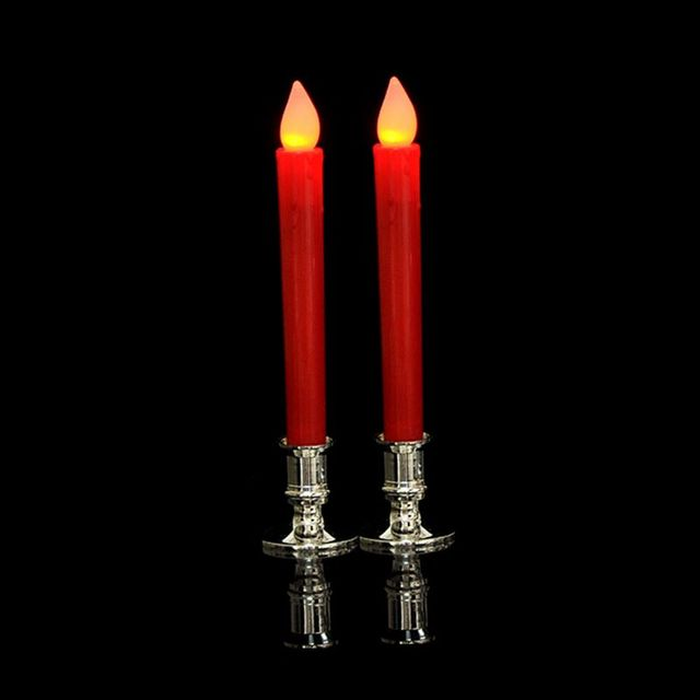 2pcs Plastic Candle Base Holder Pillar Candlestick Stand For Electronic Candles Christmas Party Home Decor 3