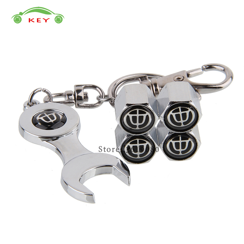Car Styling Wheel Stem Covers Auto Tire Valve Caps With Wrench Keychain For Brilliance V5 V3 H530 H230 H320 330 Frv Bs6 Fsv M2