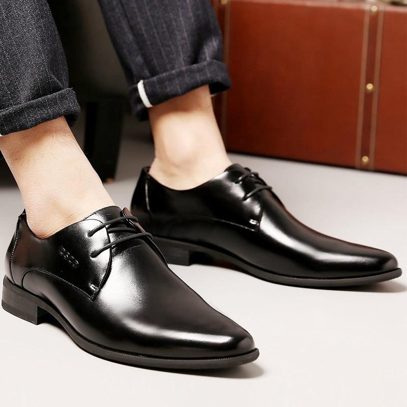 Negócios Couro Homens Casuais Verão Osco Genuíno Primavera Luxo Masculinos De Vestido Dos Oxfords Formais Sapatos Respirável Sapatas Escritório Ru0001 q00xAzwR