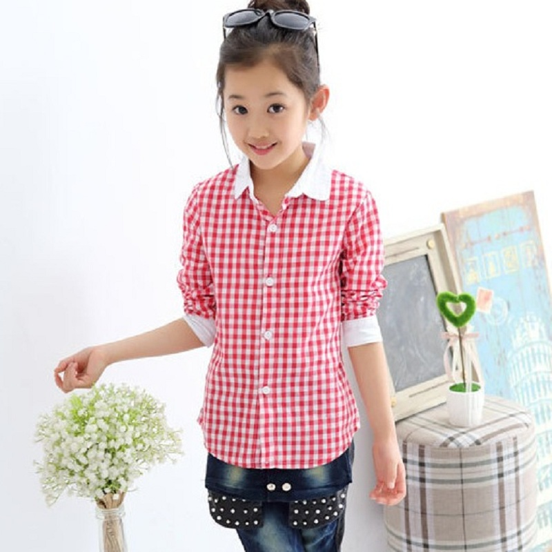 spring and summer children's clothing shirt girls shirts ...