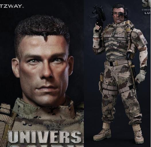 1/6 Super flexible military figure Universal Soldier Luc Deveraux jean-claude van damme 12 action figure doll Collectible model фигурка planet of the apes action figure classic gorilla soldier 2 pack 18 см