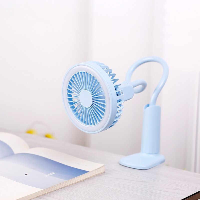 المحمولة مروحة يو إس بي مرنة مع مصباح ليد 2 سرعة قابل للتعديل برودة مصغرة مروحة يدوية صغيرة مكتب سطح المكتب USB تبريد مروحة ل الطفل