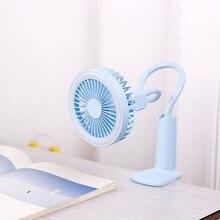 купить Portable USB Fan flexible with LED light 2 Speed Adjustable Cooler Mini Fan Handy Small Desk Desktop USB Cooling Fan for child по цене 366.04 рублей