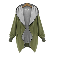 Europe and America Fashion Casual Hooded Large Size Women Autumn Increase The Fat Sister Was Thin Jackets Women outerwear coats