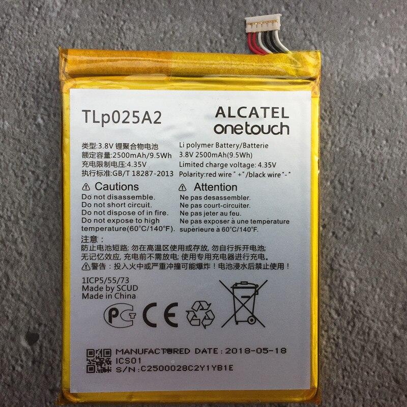 2500 mAh TLp025A2 Batterie Pour Alcatel One Touch Pop 3 (5.5) 5054A OT-5054 5054 T 5054D 5054X téléphone portable Batteries