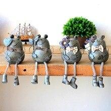 1 шт. смолы кованого железа лягушка фигурка Креативные Куклы Подарки ремесла предметы мебели