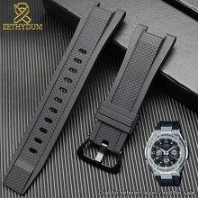 1b2d7093c8a De goma de silicona pulsera casio GST-W110/S130/B100/S100G correa de reloj  de alta calidad reloj de deporte para hombre de pulse.