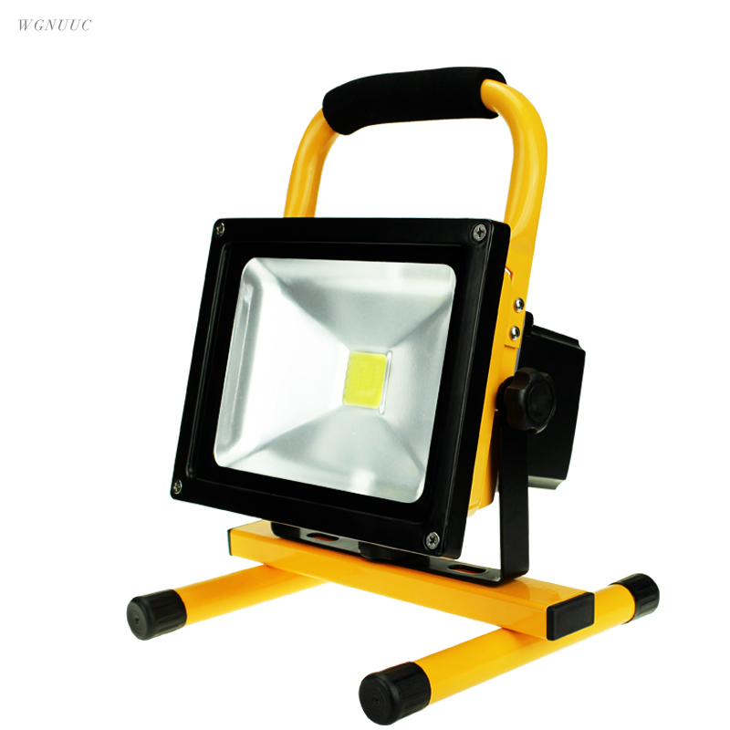 LED portable rechargeable led flood light 10W 20W 30W 50W Waterproof IP65 camping lamp outdoor Spotlight Floodlight car charger ...