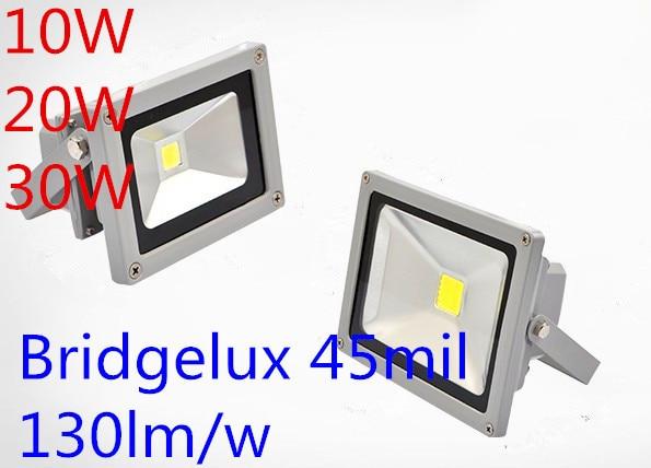 AC85V-265V DC12v 10W 20W 30W led floodlight projector reflector bridgelux