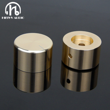 Alta fidelidade de áudio amp botão volume de alumínio 1 pçs diâmetro 35mm altura 22mm amplificador potenciômetro botão
