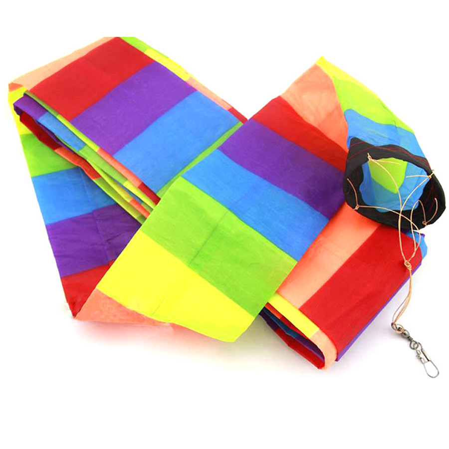 Kite Accessories 10M / 32ft Kite Tail Rainbow Kite Tube Tail Windsock Outdoor Fun Sports Delta Kites Flying Kids Gift