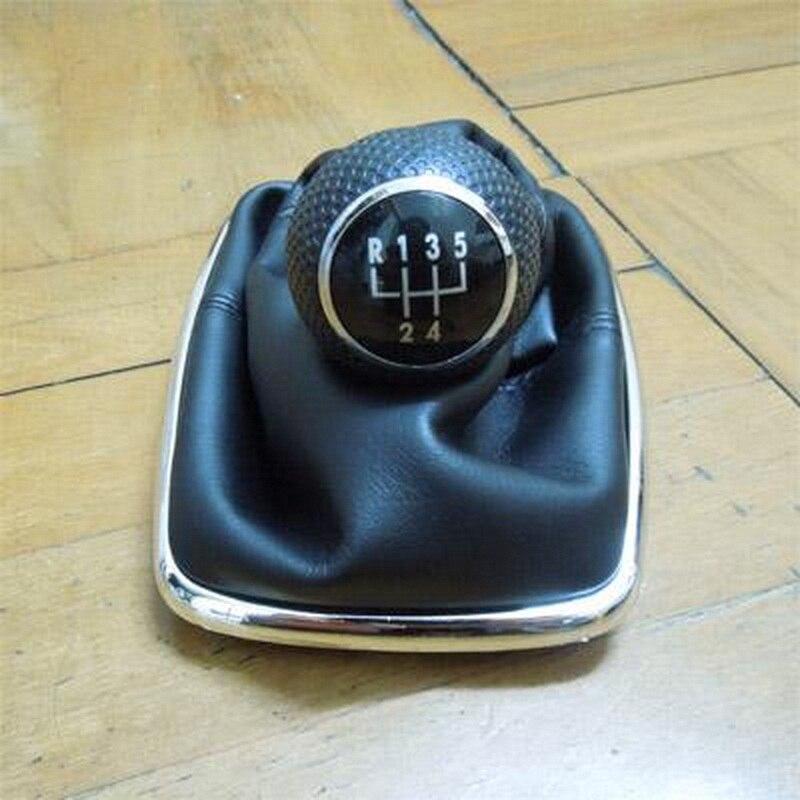 5 alavanca do deslocamento de velocidade capa de alavanca de mudança de engrenagem botão gaiter boot capa para volkswagen jetta golf transmissão manual shifter botões