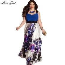Large Size 6XL Summer Dress 2017 Plus Size Midi Dress Casual Patchwork Loose Dresses Plus Size 5XL Women Clothing Big Sizes 4XL