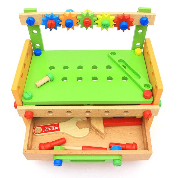 OUY Wooden Nut Group Combine Hundred Change Tool Platform Children DIY Dismounting Good Morning! Enlightenment Intelligence Toys
