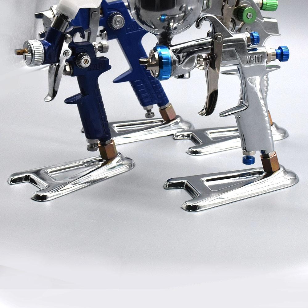 Spray Gun Holder Airbrush Paint Display A-Sharped Stand Based HVLP Spray Paint Gun Airbrush Accessories Car Pneumatic Tool 12mm