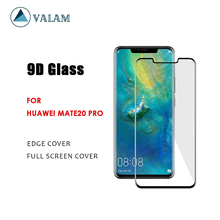 VALAM Tempered Glass Screen Protector For Huawei Mate20 Pro 9H Hardness Mate20Pro Full Cover 3D Curved Edge