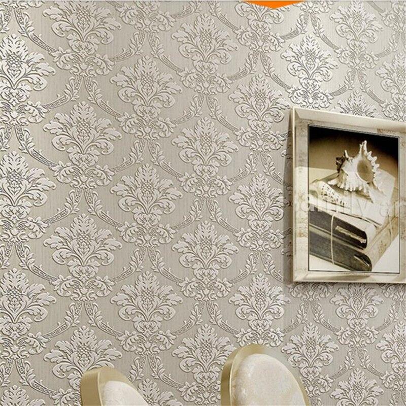 ФОТО beibehang High-grade three-dimensional foam wallpaper 3D flocking European luxury bedroom papel de parede  background wallpaper
