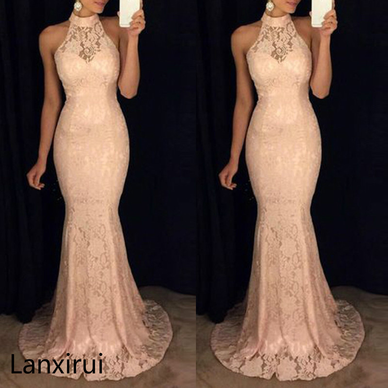 Womens Long Lace Fishtail Bridesmaid Prom Gown Formal Party Wedding Maxi Dress in Dresses from Women 39 s Clothing