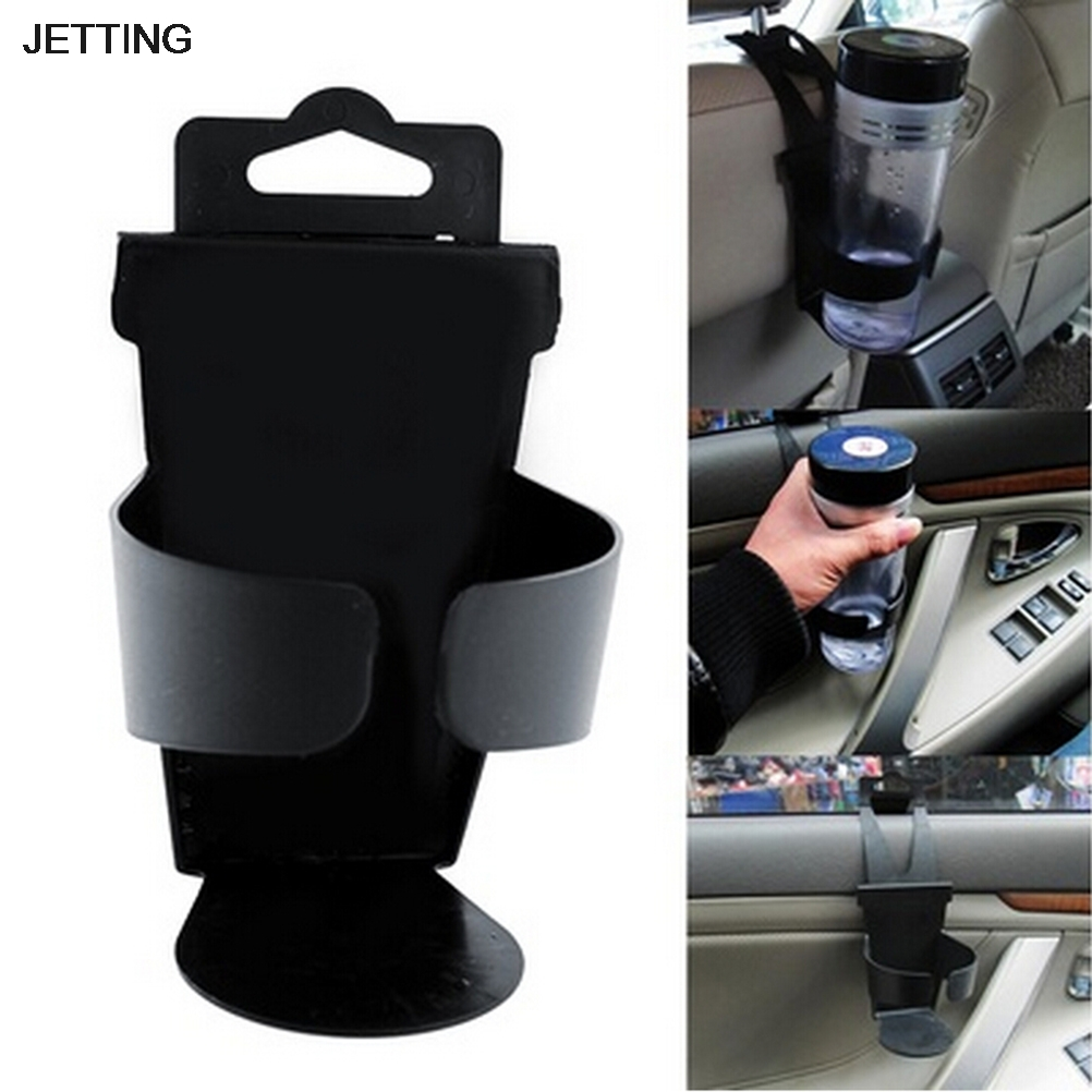 Black New Universal Door Seat Clip Mount Drink Bottle Cup Holder Car Truck Boat 360 degree mini suction cup holder w clip car charger for motorola moto g black