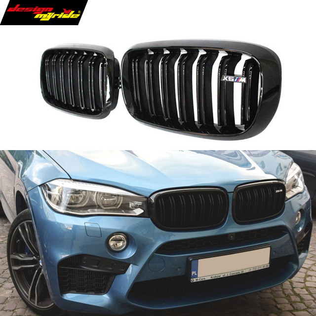 F15 F16 abs material dual slat front kidney mesh grill grille for bmw X5 F15 X6 F16 2015 2016 SUV vehicle xDrive50i xDrive30d