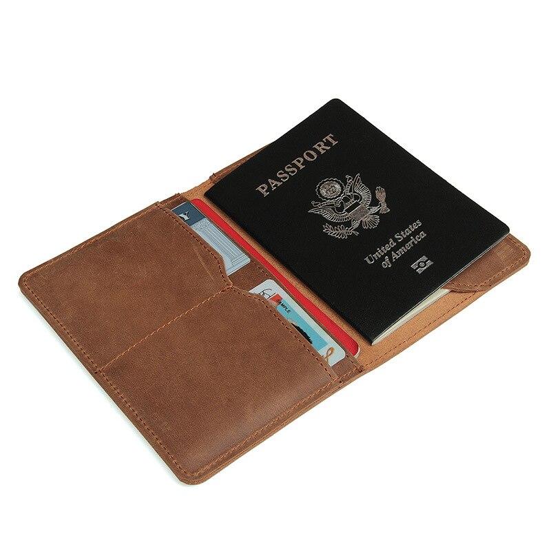 Herrenbekleidung & Zubehör Solide Vintage Echtem Leder Männer Passport Wallet Casual Leder Männlichen Geldbörse Marke Crazy Horse Leder Männer Brieftasche Karte Halter Halten Sie Die Ganze Zeit Fit