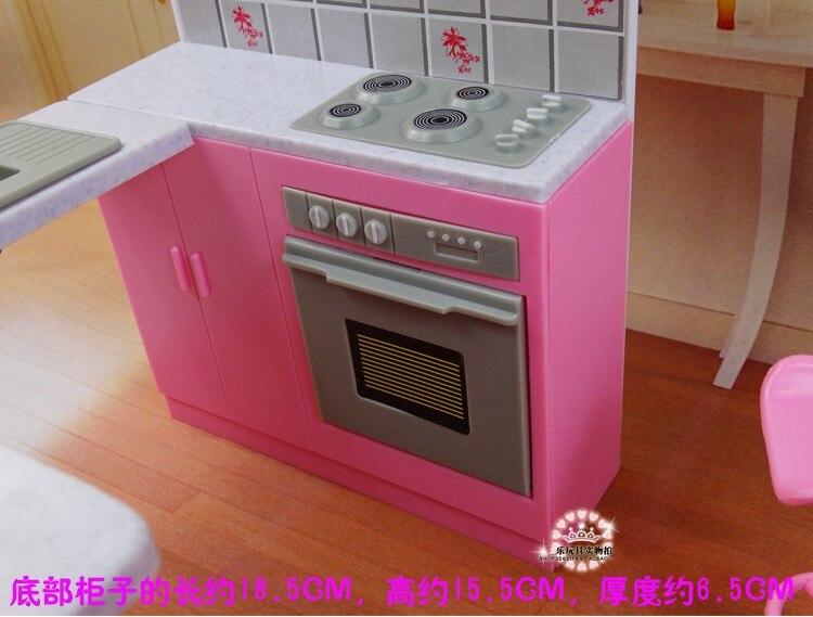 2017 Baru Mimpi Dapur Furniture Set Untuk Barbie Boneka Mainan