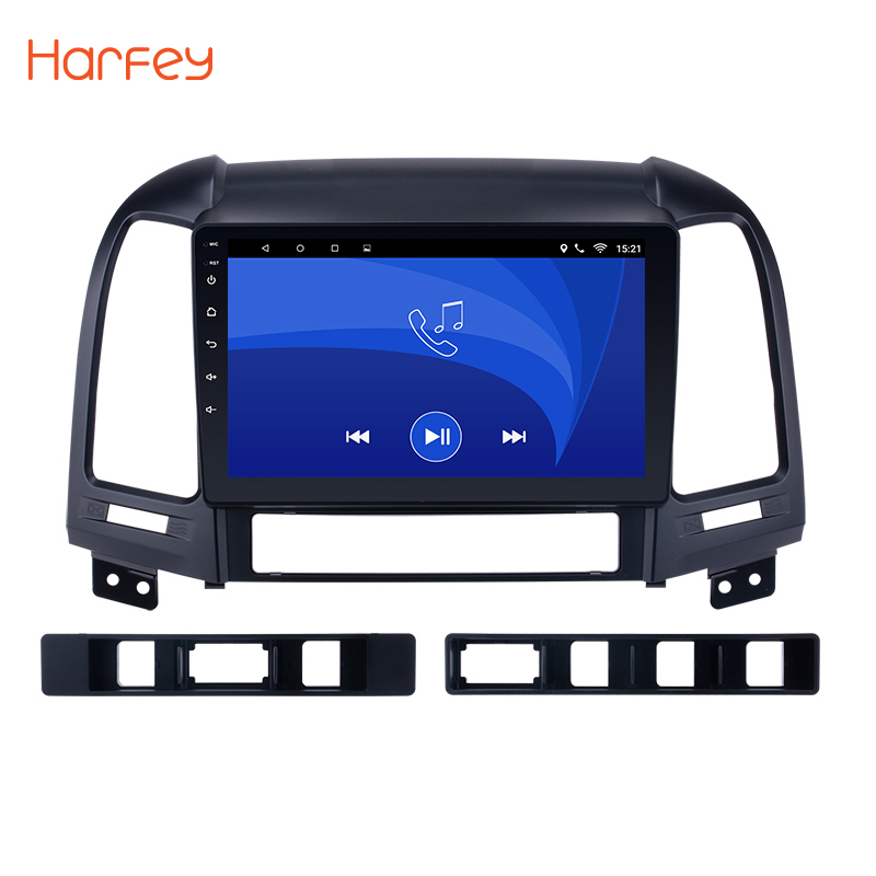Harfey Android 8,1/7,1 Автомобильный gps Мультимедиа Navi Стерео плеер для HYUNDAI SANTA FE 2005 2006 2007 2008 2009-2012 2011 с Wi-Fi