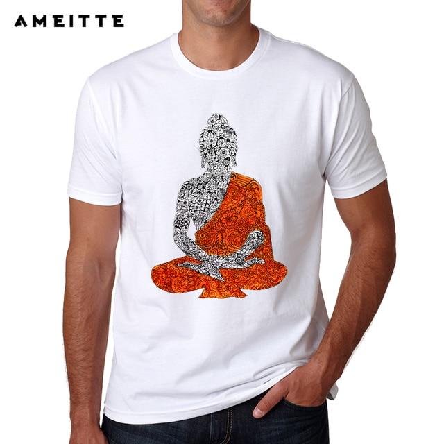 369d2a3587886 US $8.84 41% OFF|New Arrivals Buddha Doodle Art T Shirt Summer High Quality  Men's Hipster Streetwear Short Sleeve Tee Tops-in T-Shirts from Men's ...